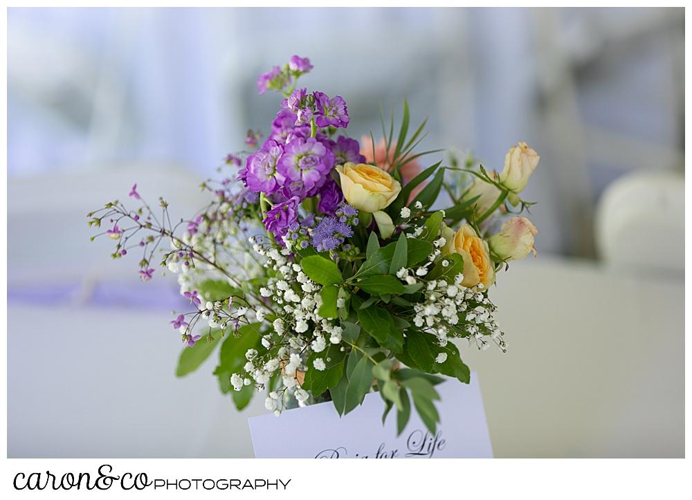 sweet summertime wedding floral bouquet