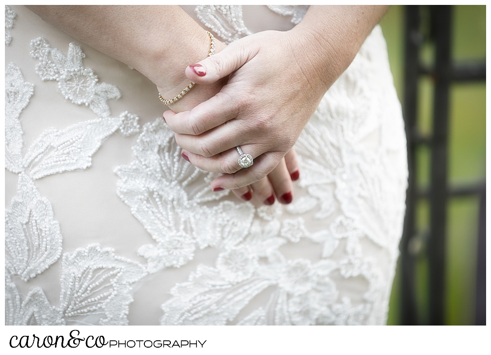a bride's hands during the wedding ceremony