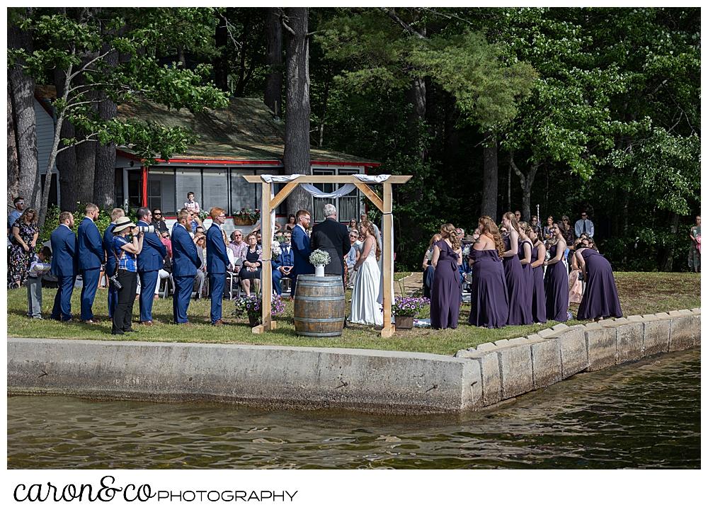 highland lake maine wedding ceremony