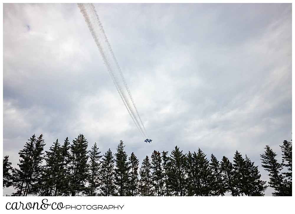 us navy blue angels flying over the Brunswick pines